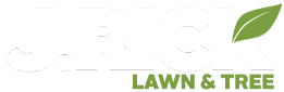 J Rick Lawn White and Green Logo